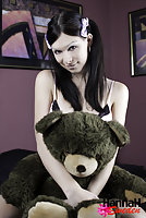 Adorable TS Fucking her Teddy Bear