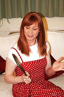 Redhaired Tranny In Panties Paddling