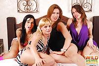 Four sluts in orgy