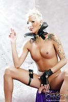 Lovely Smoking shemale showing her nude body
