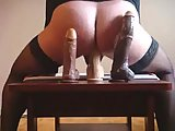 Randy Ladyboy Sticking Her Butt On A Dildo