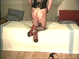 Home Soloist In Fishnets Teasing