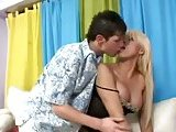 Amazing Titty Blonde Tranny Fucked &amp; Creamed