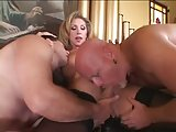 Stunning mature TS drills 2 men