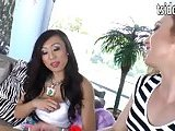 Busty big dick shemales Venus Lux and Jaqueline Woods anal