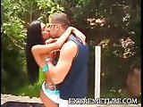 Busty latina gets a fucking outdoor
