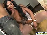 Cutie tranny chick Thalya loves to suck cock