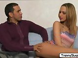 Sexy tranny Vivianne loves to suck cock
