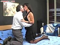 Gorgeous shemale wife getting hammered