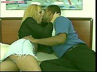 Latina driver and his hot passenger