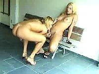 Blonde shemales enjoy hard anal fuck