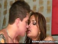 Tranny Getting & Giving Bareback Stuffing