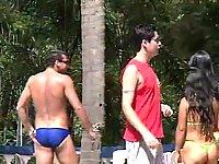 Horny Bi-Boy Hunts Laisa & Stud For 3some