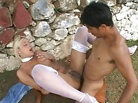 Kinky Trans Blonde Drilled In Her Hole