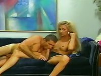 Amazing vintage Tgirl drills lucky dude ass