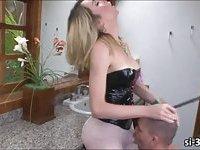 Tgirl tart Sabrina Sherman anal banging