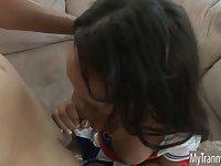 TS cheerleader Sunshyne Monroe assfucked