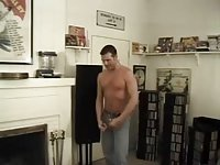 Hot lingeried shemale fucks a guy on a floor