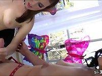 Lusty tgirl vixen Gina Hart rips pussy of Jessica Parker
