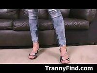 Sexy tranny strips