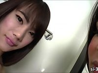 Yummy ladyboys Nicole F and Bee toy pleasing their asses
