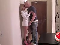 Blonde tranny loves to get her ass drilled