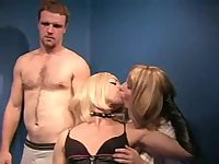 Skilful crossdressers play with a guy