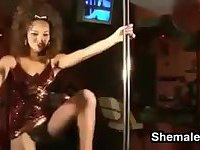 Sexy Shemale Pole Dance