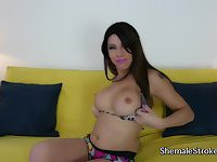 Watch her play with her huge tool