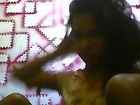 Webcam indian tranny jerks off