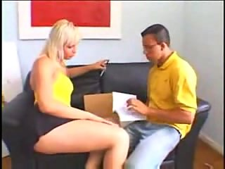 Protected Sex With Blonde Dong Sucker
