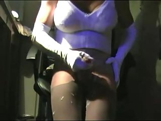 Amateur titty crossdresser solo