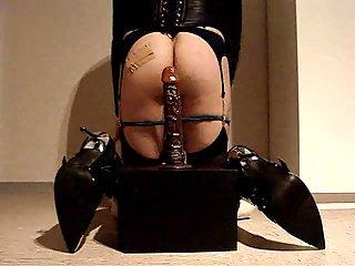 Dirty crossdresser in stockings amateur show