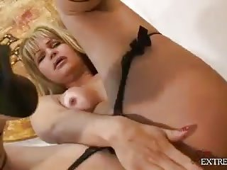 Latina TS Plays With A Dildo