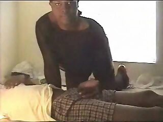 Hot ebony TS and her home video