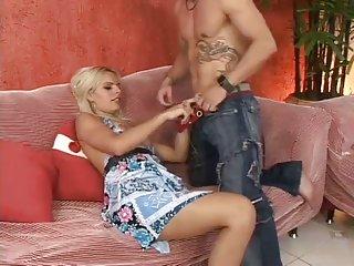 Blonde latina shemale riding