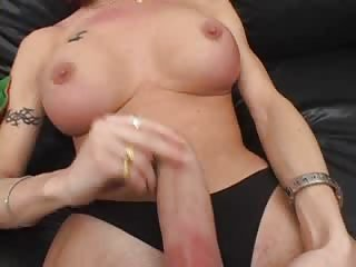 So busty Tgirl tempting solo