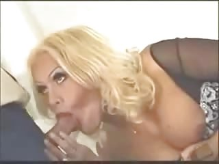 Hardcore with a vintage blond TS milf