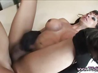Tranny shemale fucks with guy