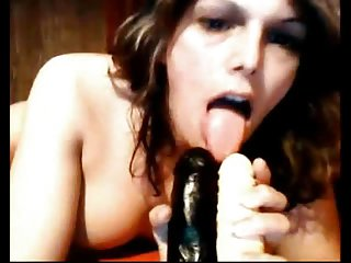 European tgirl showers and plays with her ass and big cock