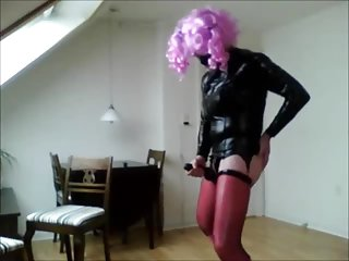 Fetish latex transvestite