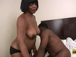 Crazy ebony couple fun