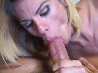 Blonde Shemale In Stockings Ass Ripped