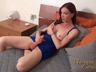 Mariana in Blue lingerie