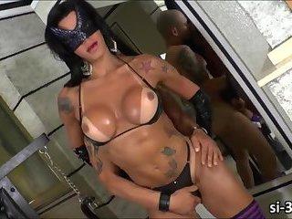 Latina TS vixen Nathany Gomes intense sex with a horny stud